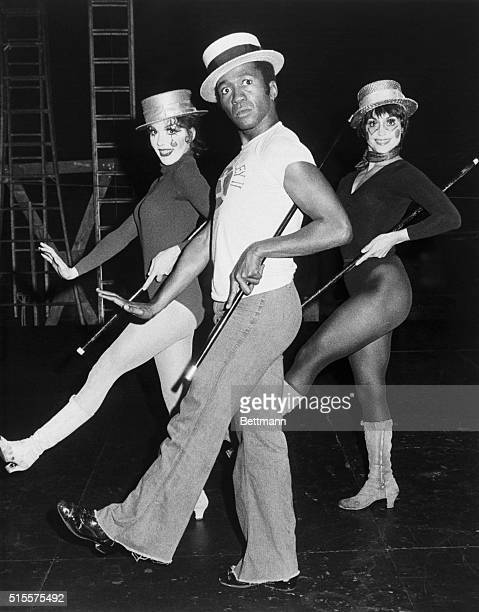 Ben Vereen and dancers rehearse for the hit musical Pippin at the Imperial Theatre in New York Vereen went on to win a Tony Award for this musical |...