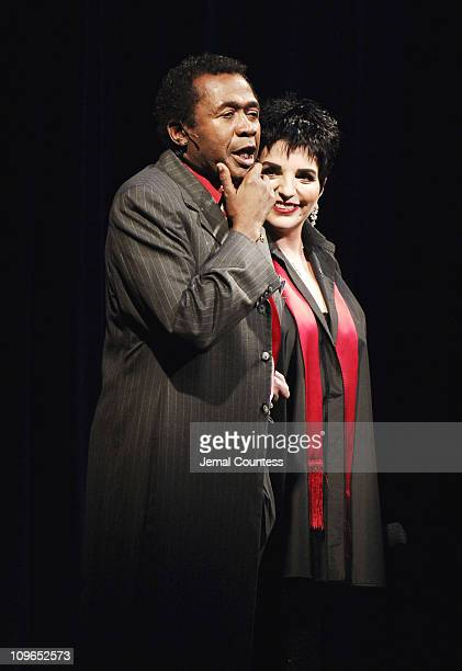Ben Vereen and Liza Minnelli during Broadway's Celebrity Benefit for Hurricane Relief Show at The Gershwin Theatre in New York City New York United...