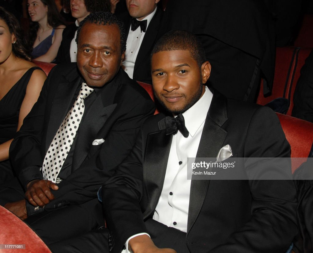 Ben Vereen and Usher during 61st Annual Tony Awards Backstage and Audience at Radio City Music Hall in New York City New York United States