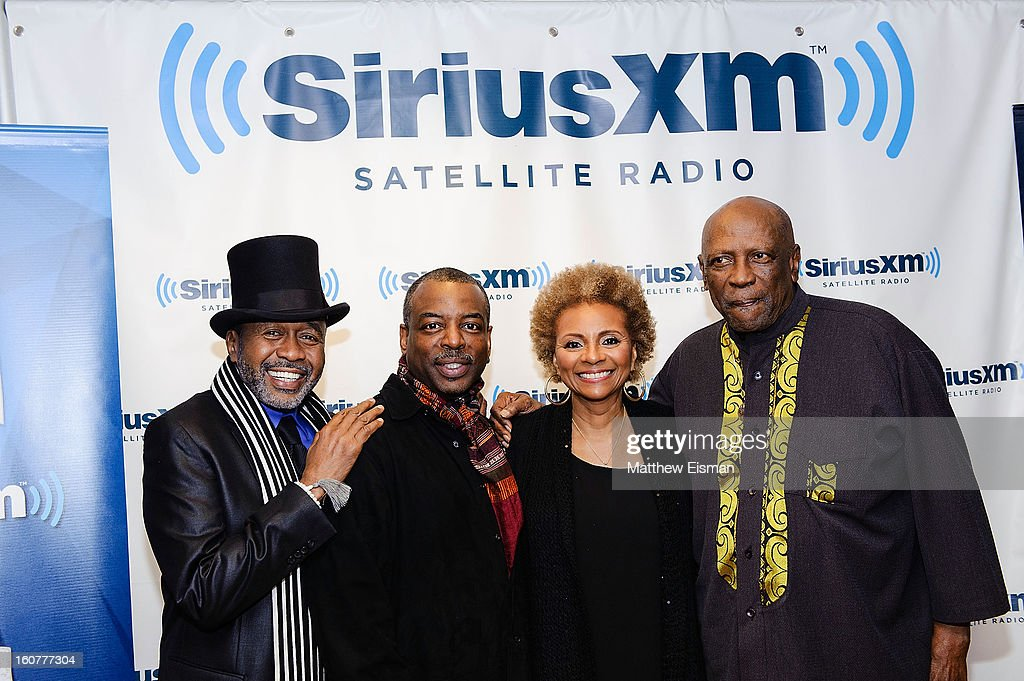 Ben Vereen LeVar Burton Leslie Uggams and Louis Gossett Jr attend SiriusXM Town Hall with the cast of 'Roots' hosted by Joe Madison at SiriusXM...