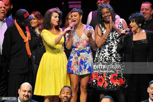 Ben Vereen Mary Birdsong Carly Hughes Mary Bond Davis and Chita Rivera perform onstage during the Concert for America Stand Up Sing Out at Royce Hall...