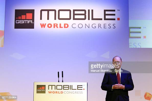 Ben Verwaayen chief executive officer of AlcatelLucent SA speaks during a keynote event at the Mobile World Congress in Barcelona on February 28 2012...