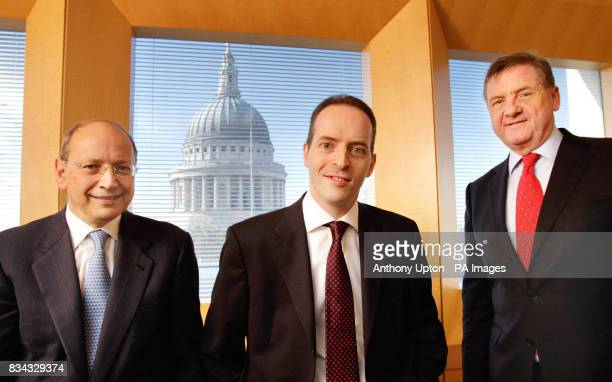 Ben Verwaayen Ian Livingston and Sir Mike Rake at the BT Centre in London after it was announced today that chief executive Ben Verwaayen will step...