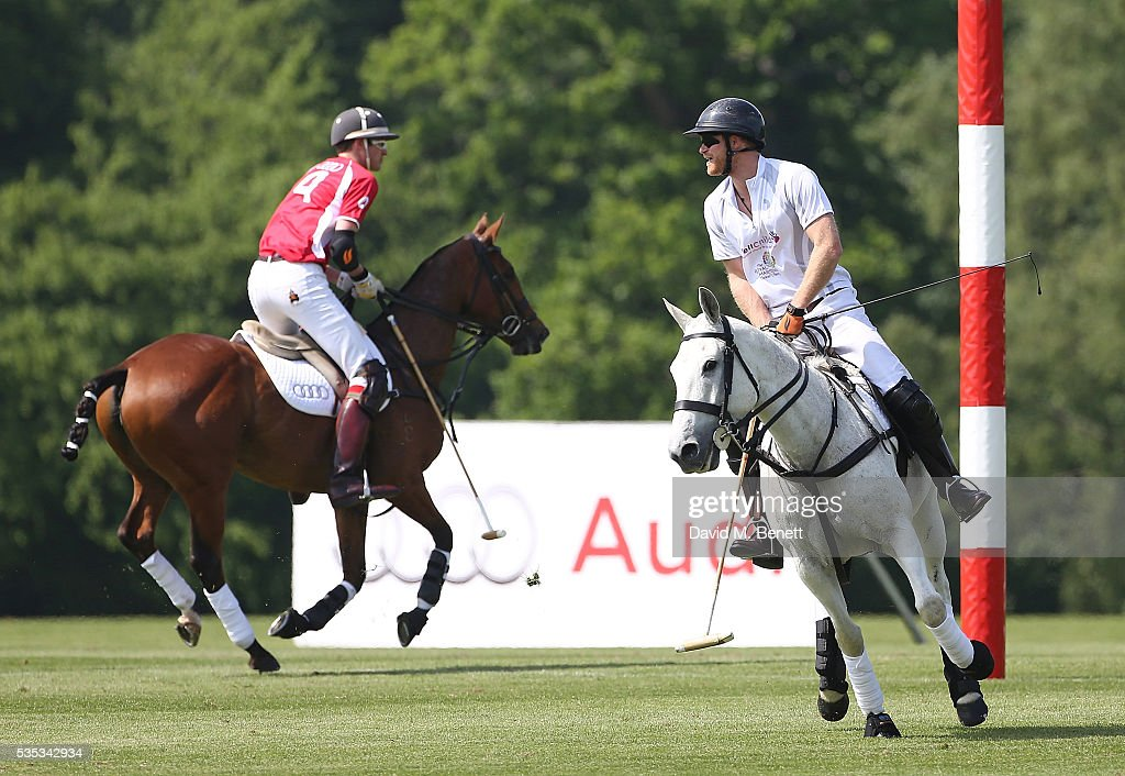 Ben Vestey and <a gi-track='captionPersonalityLinkClicked' href=/galleries/search?phrase=Prince+Harry&family=editorial&specificpeople=178173 ng-click='$event.stopPropagation()'>Prince Harry</a> attend day two of the Audi Polo Challenge at Coworth Park on May 29, 2016 in London, England.