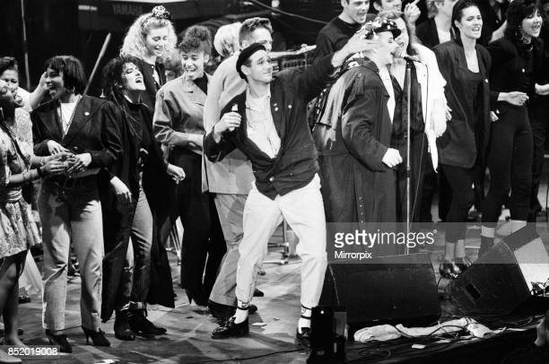 Ben VolpelierePierrot performing at the Stand by Me AIDS Day Benefit concert at Wembley Arena London 1st April 1987