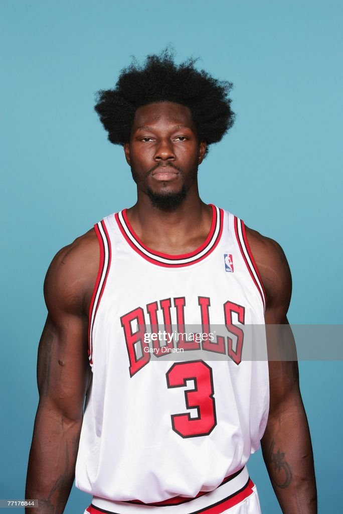 <a gi-track='captionPersonalityLinkClicked' href=/galleries/search?phrase=Ben+Wallace&family=editorial&specificpeople=201480 ng-click='$event.stopPropagation()'>Ben Wallace</a> #3 of the Chicago Bulls poses for a portrait during NBA Media Day at the Sheri L. Berto Center on October 1, 2007 in Chicago, Illinois.