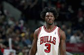 Ben Wallace of the Chicago Bulls stands on the court against the Detroit Pistons in Game Four of the Eastern Conference Semifinals during the 2007...