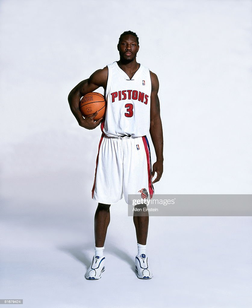 Ben Wallace #3 of the Detroit Pistons poses for a portrait during media day on September 30, 2004 in Auburn Hills, Michigan.