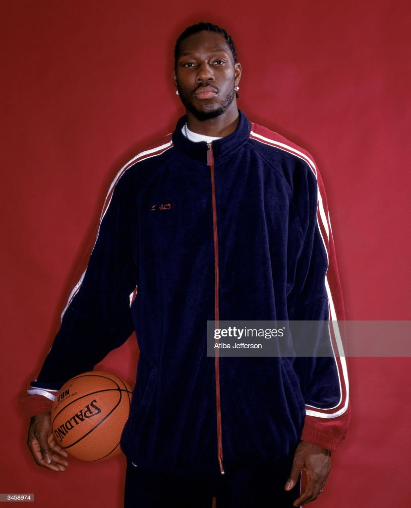 Ben Wallace of the Detroit Pistons poses for a portrait during the 2004 NBA All-Star Weekend on February 13, 2004 in Los Angeles, California.