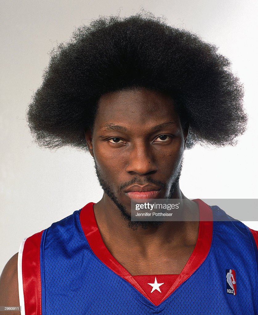 <a gi-track='captionPersonalityLinkClicked' href=/galleries/search?phrase=Ben+Wallace&family=editorial&specificpeople=201480 ng-click='$event.stopPropagation()'>Ben Wallace</a> #3 of the Eastern Conference All Stars poses for a portrait prior to the 2004 NBA All-Star game on February 15, 2004 at the Staples Center in Los Angeles, California.
