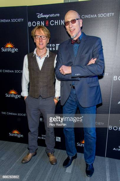 Ben Wallis and producer Roy Conli attend Disneynature with the Cinema Society host the premiere of 'Born in China' at Landmark Sunshine Cinema on...
