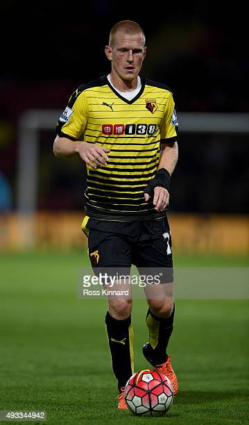 Ben Watson of Watford during the Barclays Premier League match between Watford and Arsenal at Vicarage Road on October 17 2015 in Watford England