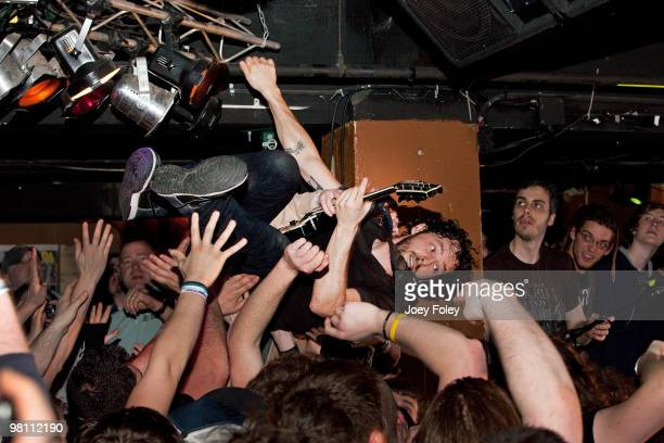 Ben Weinman of The Dillinger Escape Plan performs at The Basement on March 27 2010 in Columbus Ohio