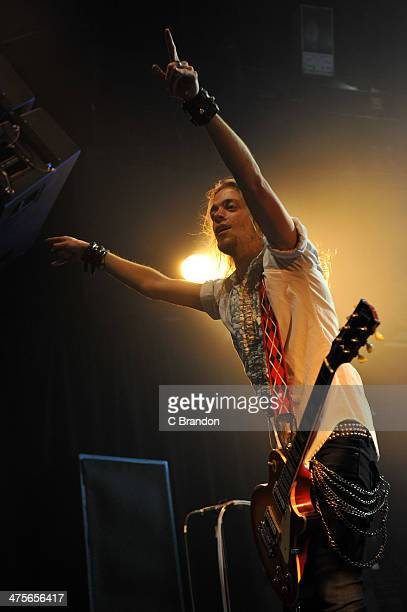 Ben Wells of Black Stone Cherry performs on at KOKO on February 28 2014 in London United Kingdom