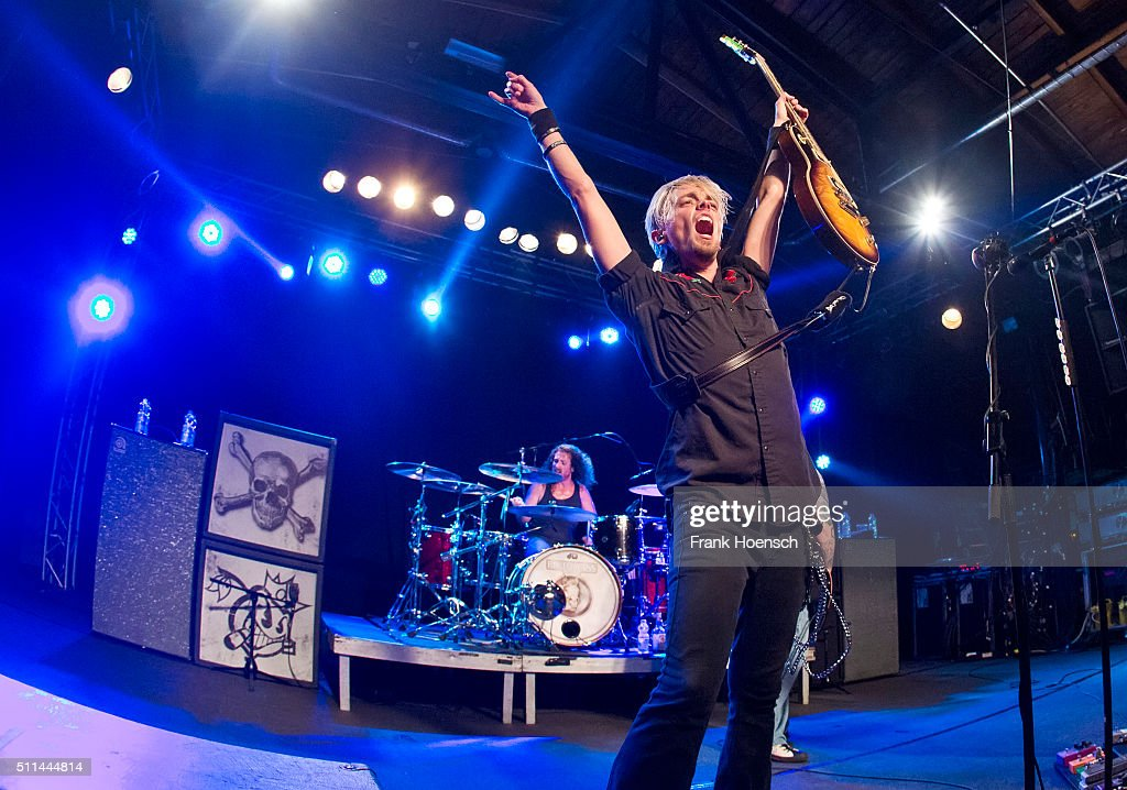 Ben Wells of the American band Black Stone Cherry performs live during a concert at the Postbahnhof on February 20, 2016 in Berlin, Germany.