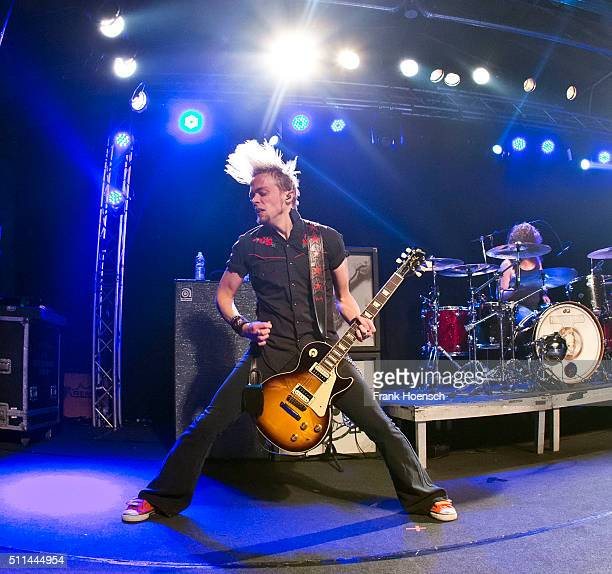 Ben Wells of the American band Black Stone Cherry performs live during a concert at the Postbahnhof on February 20 2016 in Berlin Germany