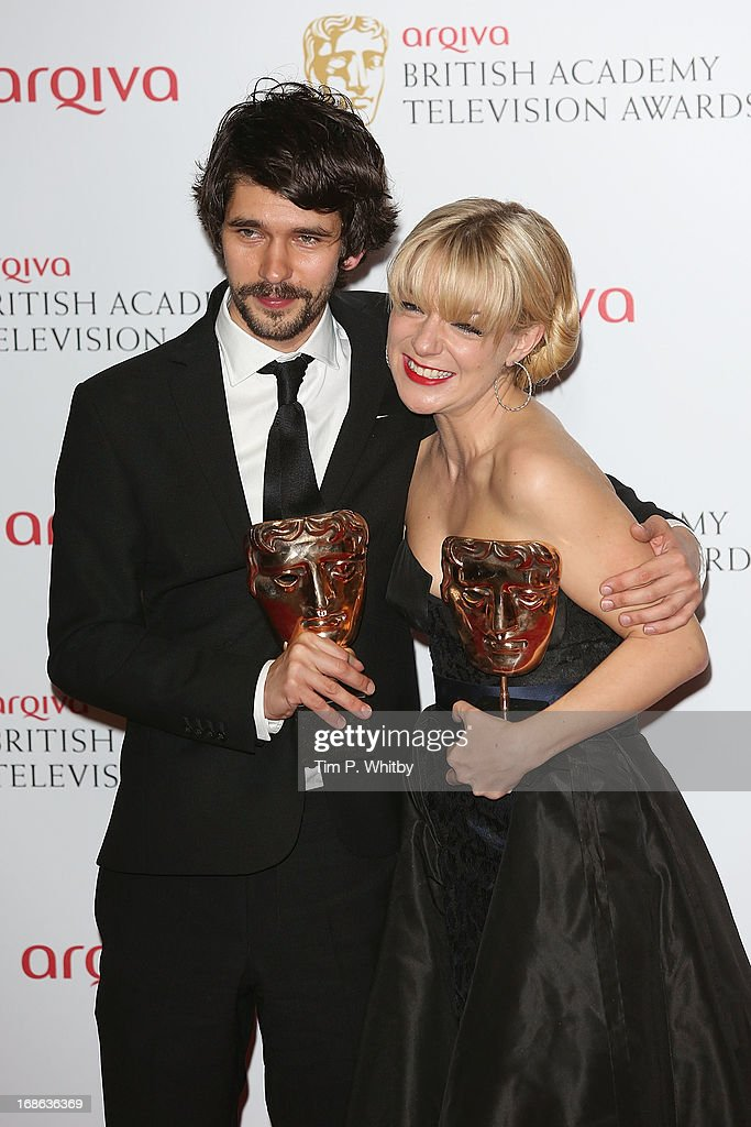 Ben Whishaw and Sheridan Smith pose in the press room at the Arqiva British Academy Television Awards 2013 at the Royal Festival Hall on May 12, 2013 in London, England.