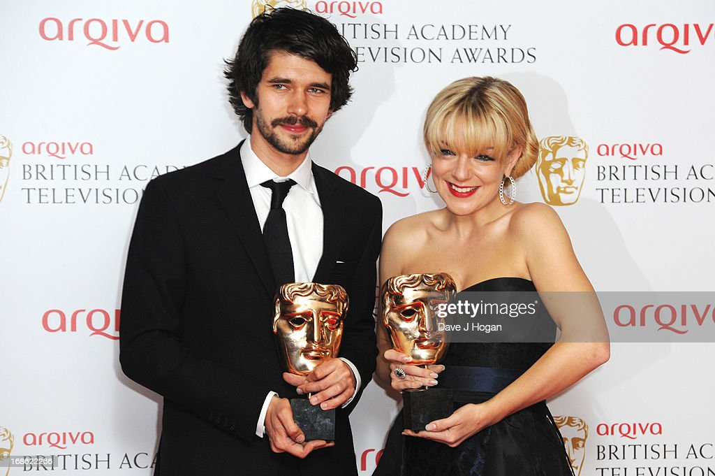 <a gi-track='captionPersonalityLinkClicked' href=/galleries/search?phrase=Ben+Whishaw&family=editorial&specificpeople=690931 ng-click='$event.stopPropagation()'>Ben Whishaw</a> and <a gi-track='captionPersonalityLinkClicked' href=/galleries/search?phrase=Sheridan+Smith&family=editorial&specificpeople=4159304 ng-click='$event.stopPropagation()'>Sheridan Smith</a> pose with their Best Actor and Actress Awards in front of the winners boards at the BAFTA TV Awards 2013 at The Royal Festival Hall on May 12, 2013 in London, England.