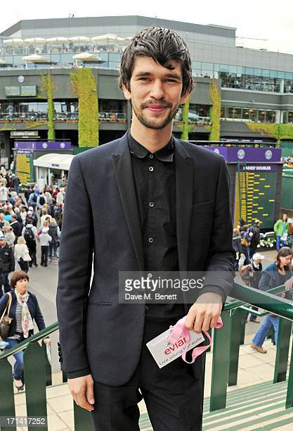 Ben Whishaw attends the evian 'Live Young' Suite at Wimbledon on June 24 2013 in London England