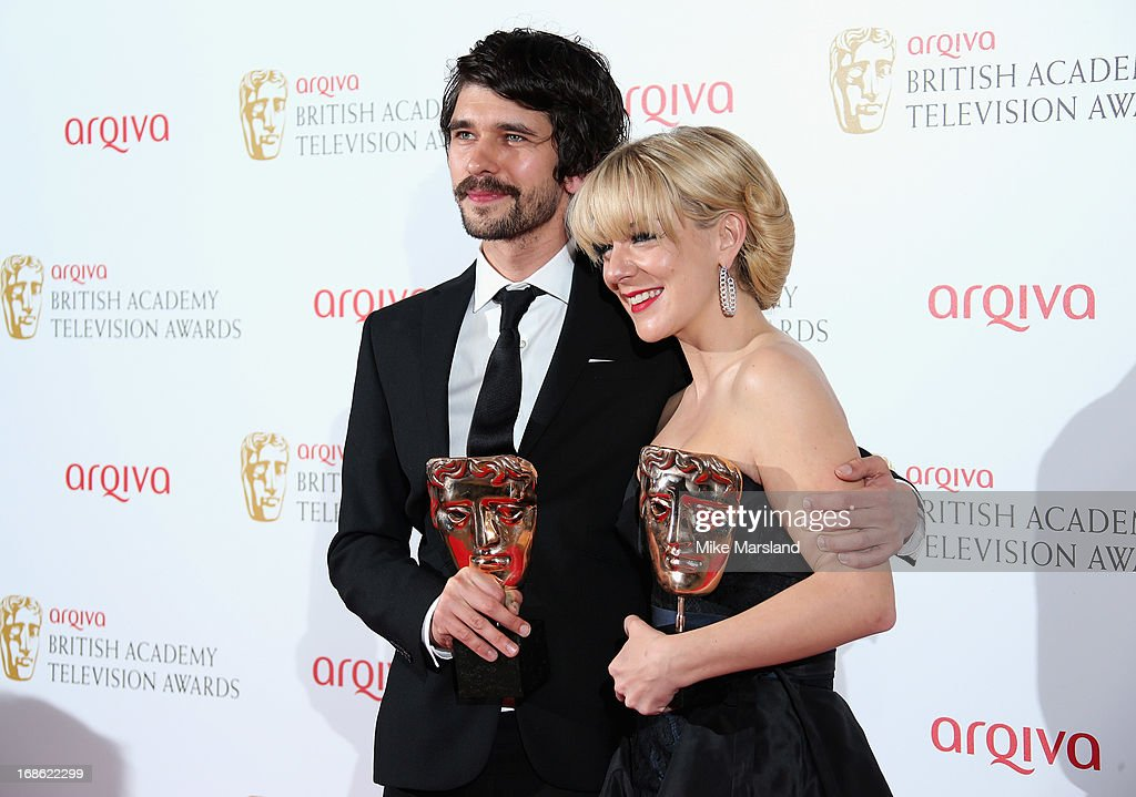 <a gi-track='captionPersonalityLinkClicked' href=/galleries/search?phrase=Ben+Whishaw&family=editorial&specificpeople=690931 ng-click='$event.stopPropagation()'>Ben Whishaw</a> with his Best Actor award and <a gi-track='captionPersonalityLinkClicked' href=/galleries/search?phrase=Sheridan+Smith&family=editorial&specificpeople=4159304 ng-click='$event.stopPropagation()'>Sheridan Smith</a> with her Best Actress award during the Arqiva British Academy Television Awards 2013 at the Royal Festival Hall on May 12, 2013 in London, England.