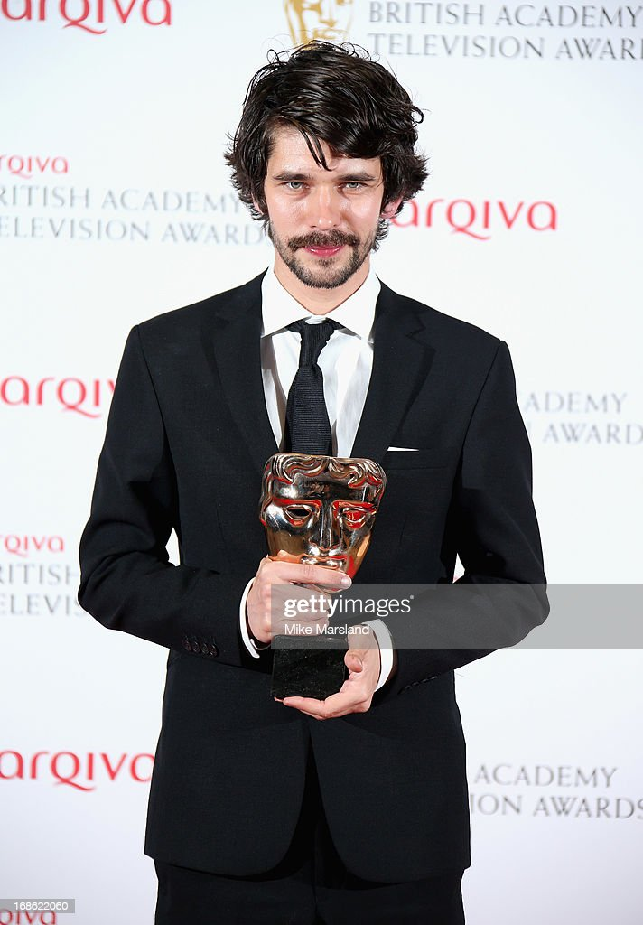 Ben Whishaw with his Best Actor award the Arqiva British Academy Television Awards 2013 at the Royal Festival Hall on May 12, 2013 in London, England.
