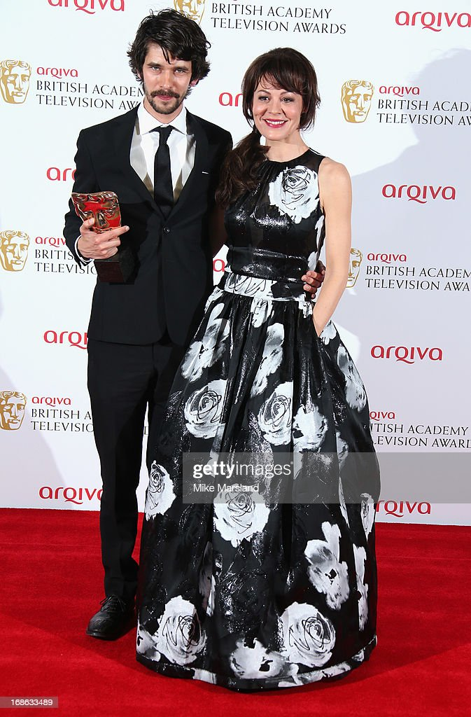 Ben Whishaw with his Best Actor award with presenter Helen McCrory during the Arqiva British Academy Television Awards 2013 at the Royal Festival Hall on May 12, 2013 in London, England.