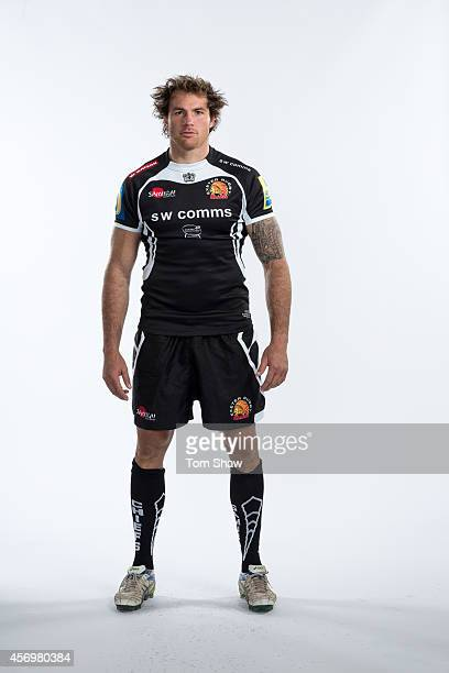 Ben White of Exeter Chiefs poses for a picture during the BT Photo Shoot at Sandy Park on August 26 2014 in Exeter England