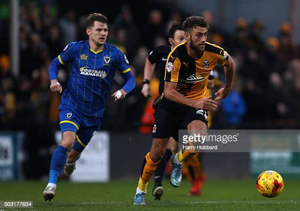Ben Williamson of Cambridge United in action during the Sky Bet League Two match between Cambridge United and AFC Wimbledon at Abbey Stadium on...