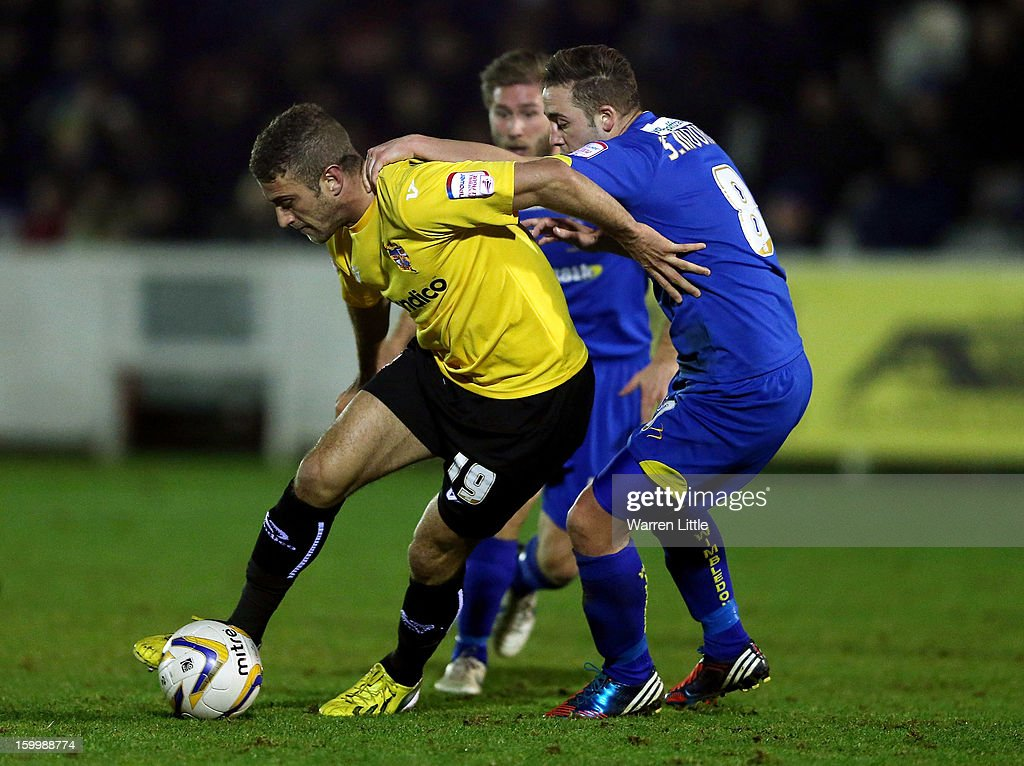 Ben Williamson of Port Vale in action during the npower League Two match between AFC Wimbledon and Port Vale at The Cherry Red Records Stadium on January 24, 2013 in Kingston upon Thames, England.