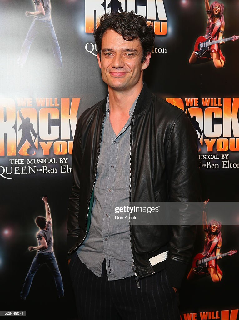 Ben Winspear arrives ahead of We Will Rock You Opening Night at Lyric Theatre, Star City on May 5, 2016 in Sydney, Australia.