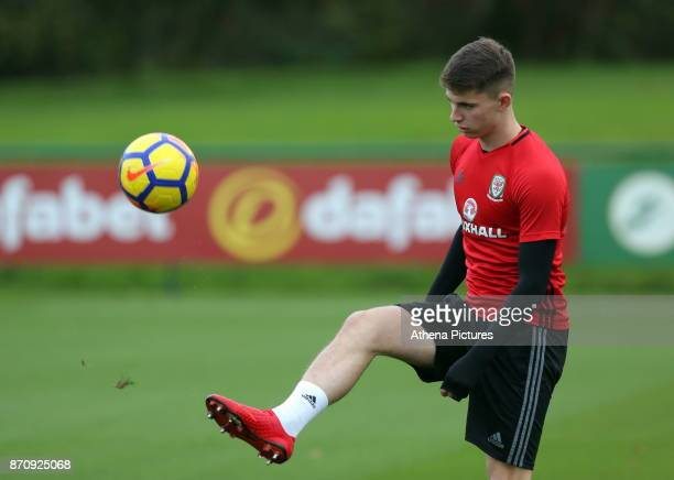 Ben Woodburn in action during the Wales Training Session at The Vale Resort on November 06 2017 in Cardiff Wales
