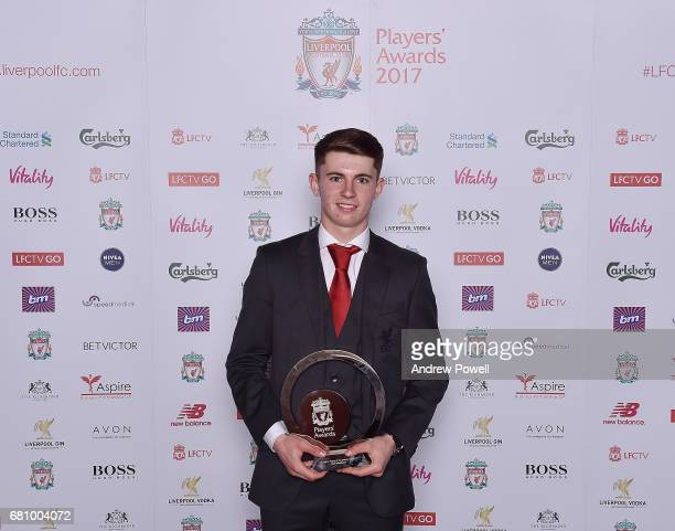 Ben Woodburn of Liverpool after winning Academy Player of the season award during the Liverpool FC Player Awards at Anfield on May 9 2017 in...