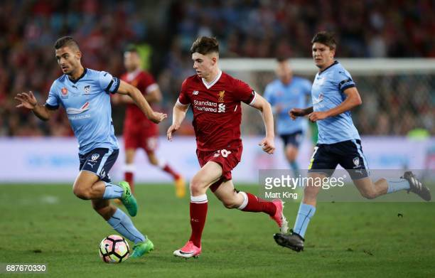 Ben Woodburn of Liverpool controls the ball during the International Friendly match between Sydney FC and Liverpool FC at ANZ Stadium on May 24 2017...