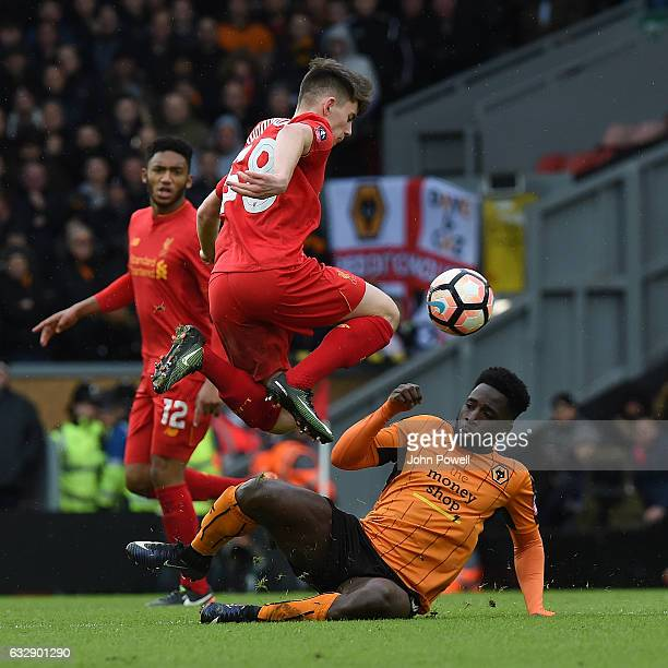 Ben Woodburn of Liverpool during the Emirates FA Cup Fourth Round match between Liverpool and Wolverhampton Wanderers at Anfield on January 28 2017...