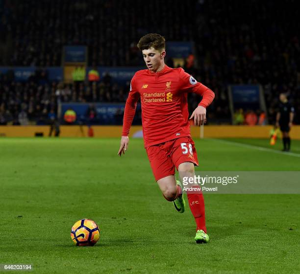 Ben Woodburn of Liverpool during the Premier League match between Leicester City and Liverpool at The King Power Stadium on February 27 2017 in...