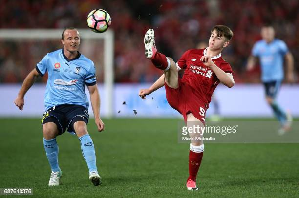 Ben Woodburn of Liverpool in action during the International Friendly match between Sydney FC and Liverpool FC at ANZ Stadium on May 24 2017 in...