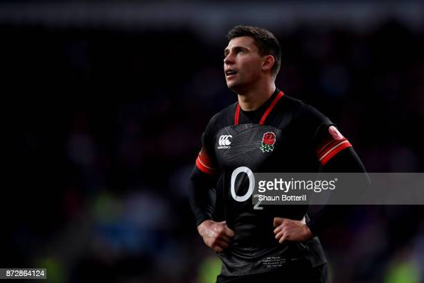 Ben Youngs of England looks on during the Old Mutual Wealth Series match between England and Argentina at Twickenham Stadium on November 11 2017 in...