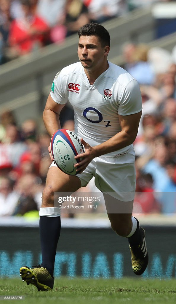 <a gi-track='captionPersonalityLinkClicked' href=/galleries/search?phrase=Ben+Youngs&family=editorial&specificpeople=3970947 ng-click='$event.stopPropagation()'>Ben Youngs</a> of England runs with the ball during the England v Wales International match at Twickenham Stadium on May 29, 2016 in London, England.