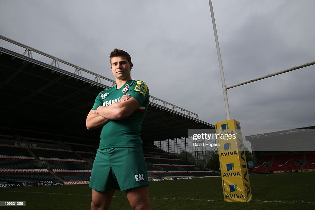 <a gi-track='captionPersonalityLinkClicked' href=/galleries/search?phrase=Ben+Youngs&family=editorial&specificpeople=3970947 ng-click='$event.stopPropagation()'>Ben Youngs</a> of Leicester Tigers poses for a portrait at Welford Road on May 17, 2013 in Leicester, England.