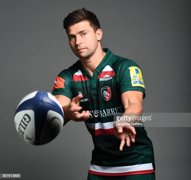 Ben Youngs of Leicester Tigers poses for a portrait during the squad photo call for the 20172018 Aviva Premiership Rugby season at Welford Road on...