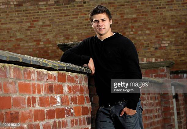 Ben Youngs the Leicester and England scrumhalf poses during a photoshoot near his home on October 7 2010 in Leicester England