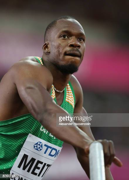 Ben Youssef Meite of Cote d'Ivoire looks on in the Men's 100 metres heats during day one of the 16th IAAF World Athletics Championships London 2017...