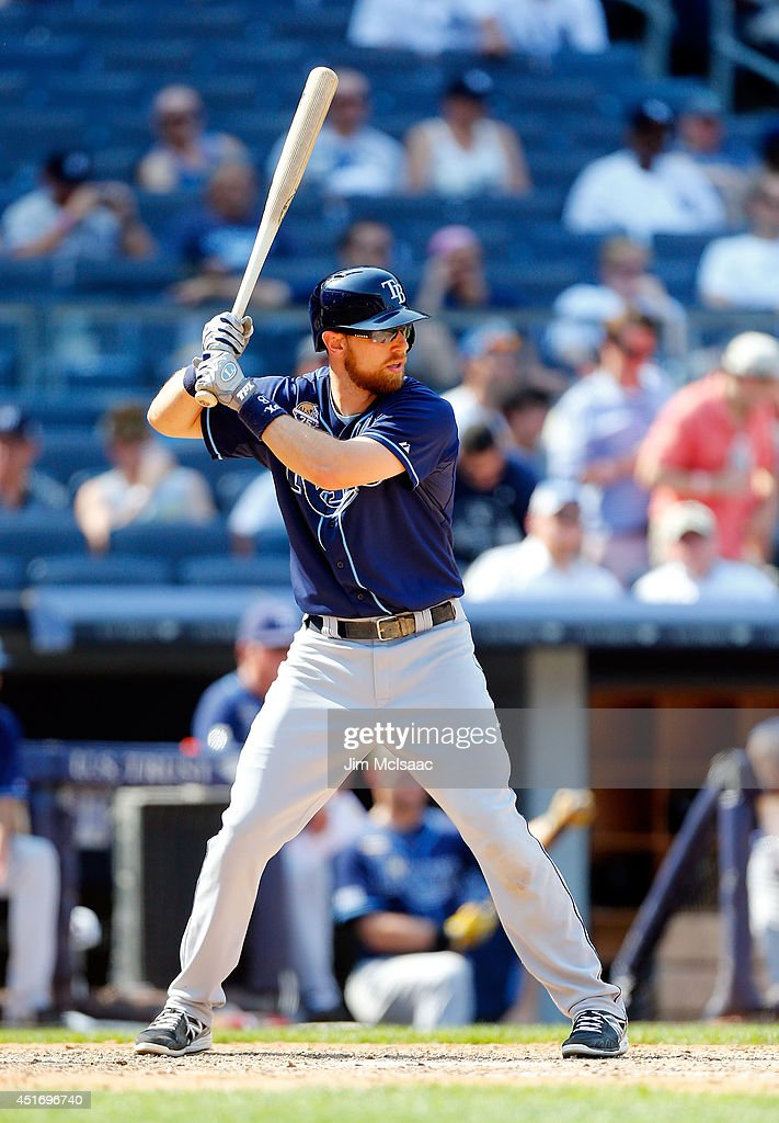 Ben Zobrist #18 of the Tampa Bay Rays in action against the New York Yankees at Yankee Stadium on July 2, 2014 in the Bronx borough of New York City. The Rays defeated the Yankees 6-3.