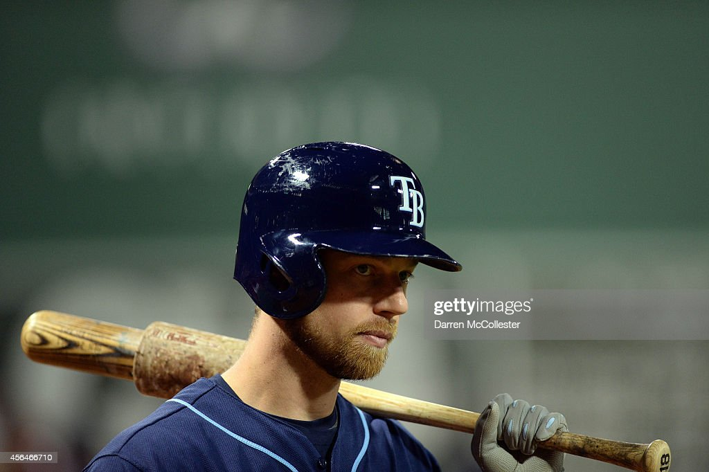 <a gi-track='captionPersonalityLinkClicked' href=/galleries/search?phrase=Ben+Zobrist&family=editorial&specificpeople=2120037 ng-click='$event.stopPropagation()'>Ben Zobrist</a> #18 of the Tampa Bay Rays prepares to bat in the first inning against the Boston Red Sox at Fenway Park on September 24, 2014 in Boston, Massachusetts. The Red Sox won the game 11-3.