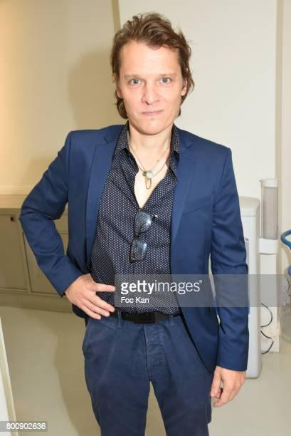 Benabar aka Bruno Nicolini poses during Agnes B Menswear Spring/Summer 2018 show as part of Paris Fashion Week ton June 25 2017 in Paris France