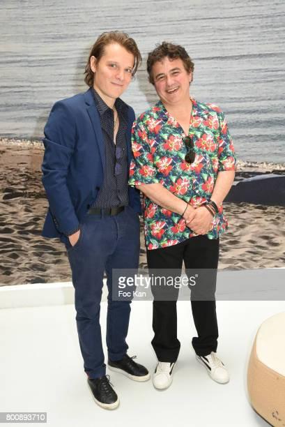 Benabar and Patrick Pelloux pose during Agnes B Menswear Spring/Summer 2018 show as part of Paris Fashion Week ton June 25 2017 in Paris France