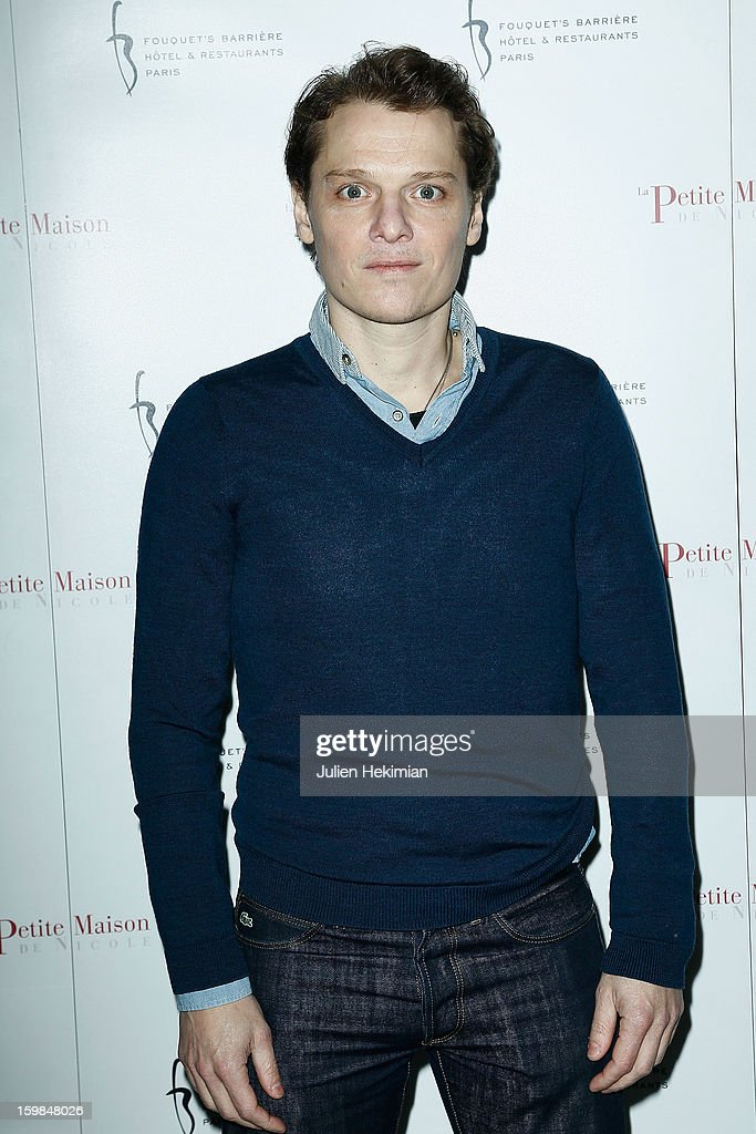 Benabar attends 'La Petite Maison De Nicole' Inauguration Photocall at Hotel Fouquet's Barriere on January 21, 2013 in Paris, France.