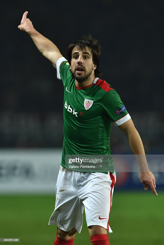 Benat of Athletic Club reacts during the UEFA Europa League Round of 32 match between Torino FC and Athletic Club on February 19, 2015 in Turin, Italy.