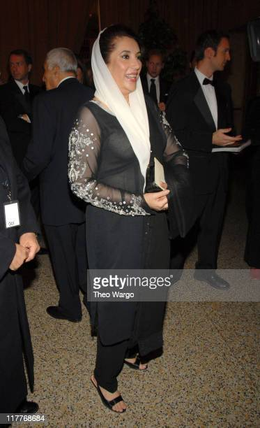 Benazir Bhutto during The 2006 Women's World Awards Inside Arrivals at The Hammerstein Ballroom in New York City New York United States
