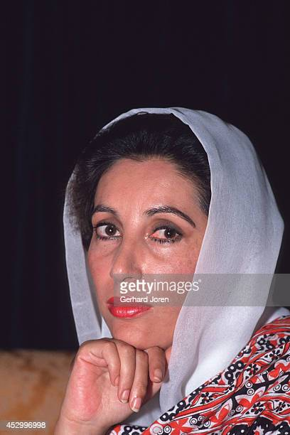 Benazir Bhutto in her house in her home town Lakarna She was the first ever woman to lead a modern Islamic nation Benazir led the Pakistan Peoples...